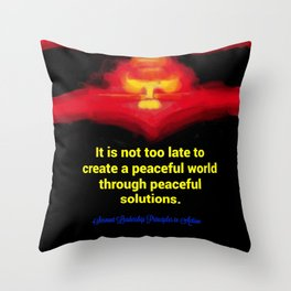 A Peaceful World Throw Pillow