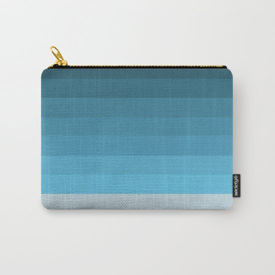 Blue Lagoon stripes pattern Carry-All Pouch