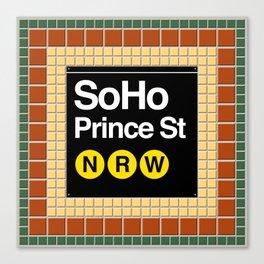 subway soho sign Canvas Print