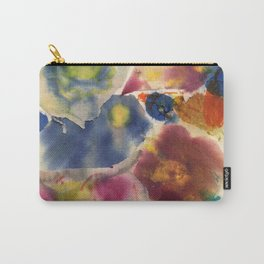 Ripped Canvas Collage Carry-All Pouch