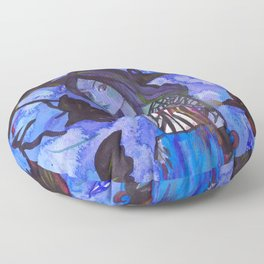 Ravenwitch - Shades of Blue Floor Pillow