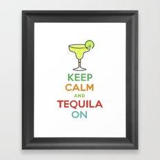 Keep Calm Tequila - white Framed Art Print