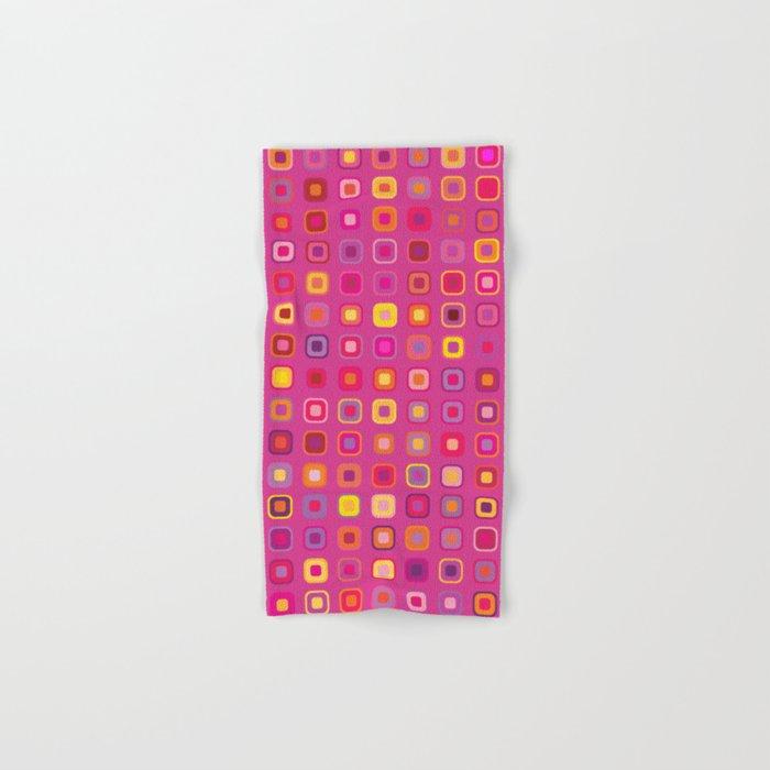 Retro in Pink Hand & Bath Towel