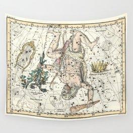Constellations Hercules, Lyra, Corona Borealis, Celestial Atlas Plate 8, Alexander Jamieson Wall Tapestry