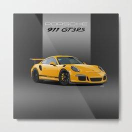 Porsche 911 GT3 RS in Racing Yellow Metal Print