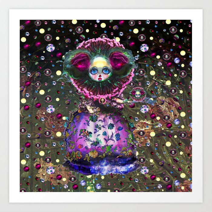 Black Forest Bride Art Print