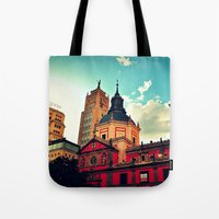 madrid Tote Bags featuring Madrid Sky by Melanie Ann