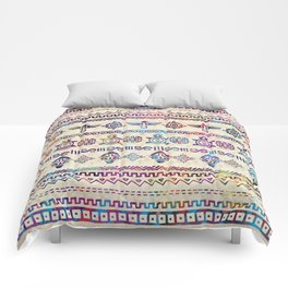 Maya / Aztec Gentle Watercolor pattern Comforters