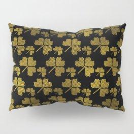 Irish Shamrock clover  pattern Pillow Sham