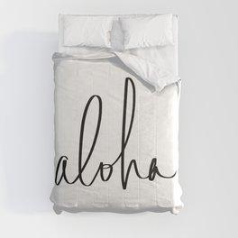 Aloha Hawaii Typography Comforters