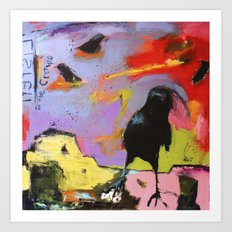 Listen to the Crows #2 Art Print