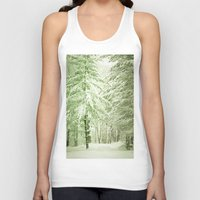 narnia Tank Tops featuring Winter Pine Trees by Olivia Joy StClaire