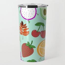 Cute Fruit Pattern Bright Happy Kawaii Travel Mug