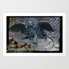 StMarkLion Art Print