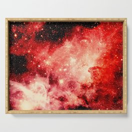 Red Carina Nebula Serving Tray