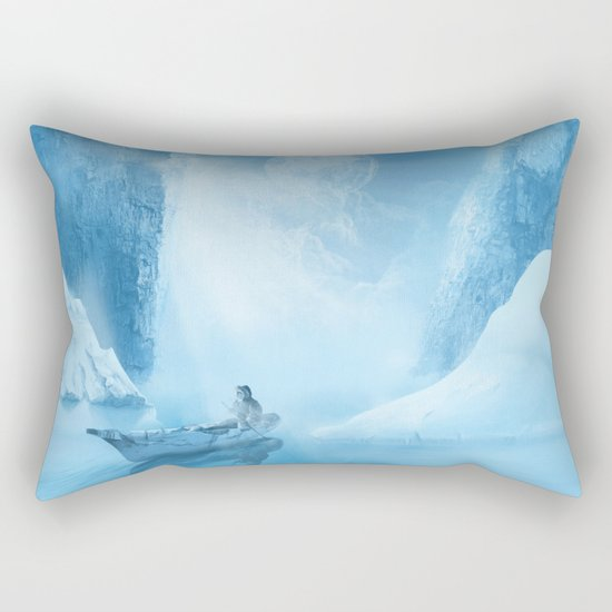 white landscape Rectangular Pillow