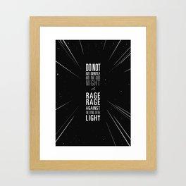 do not go gentle Framed Art Print