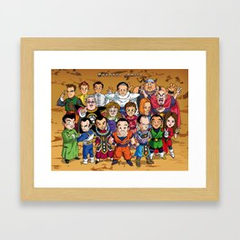 DBZ Mexican Voice Actors Framed Art Print