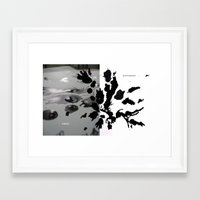 rorschach Framed Art Prints featuring rorschach by Moshik Gulst