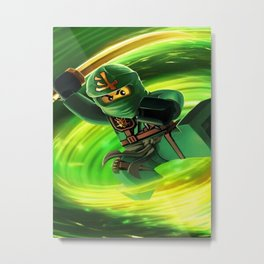 ninja green Metal Print