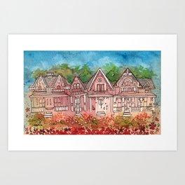 Gingerbread Houses Art Print