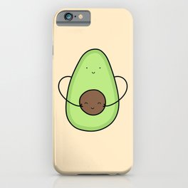 Cute Avocado Hug iPhone Case