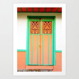 Doors - Orange Art Print