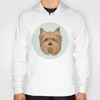 yorkie Hoodies featuring Yorkshire Terrier Pattern by Mari Anrua