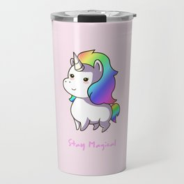 Super Cute Rainbow Unicorn Kawaii Travel Mug