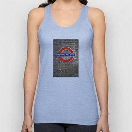 Notting Hill Gate Tube Sign Unisex Tank Top
