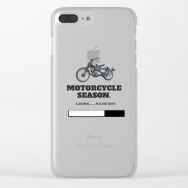 Motorcycle Season Loading Clear iPhone Case