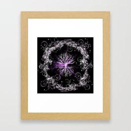 Tree of Life, Purple Universe, Cosmic Tree Framed Art Print