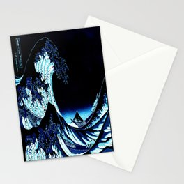 the Great Wave Blue Stationery Cards