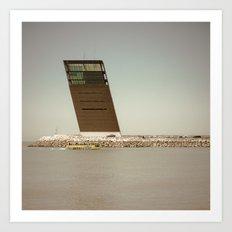 Oblique architecture Art Print