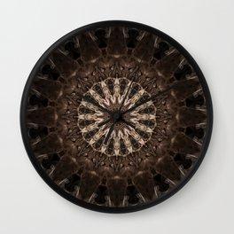 Bohemian Dark Brown Mandala Wall Clock
