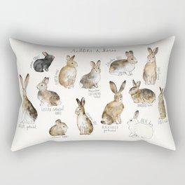 Rabbits & Hares Rectangular Pillow