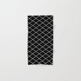 Diamond Lines - Silver Hand & Bath Towel