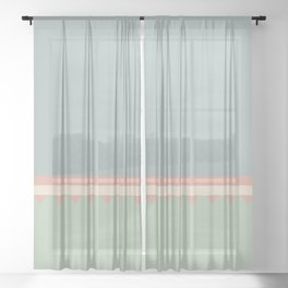 Jagged 8 Sheer Curtain