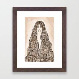 The Maori girl ~ revisited Framed Art Print
