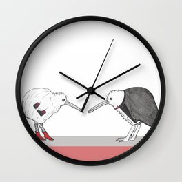 Kiwis - A Night Out Wall Clock