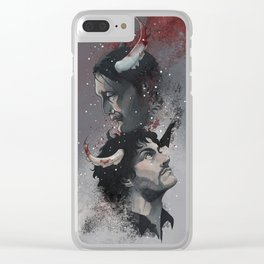 Winter Blood Clear iPhone Case