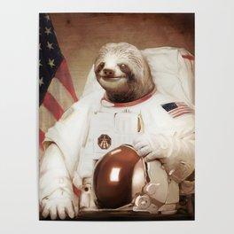 Sloth Astronaut Poster