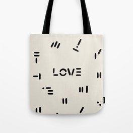 Love & Pattern Tote Bag