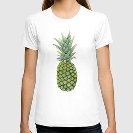 Watercolor pineapple print T-shirt