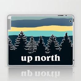 up north, teal & yellow Laptop & iPad Skin