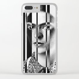 Frida Kahlo Distortion Clear iPhone Case