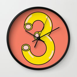 Macaroni 3 Wall Clock