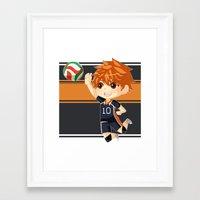 haikyuu Framed Art Prints featuring Haikyuu!! by Nozubozu