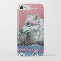 globe iPhone & iPod Cases featuring Lone Wolf by Mat Miller