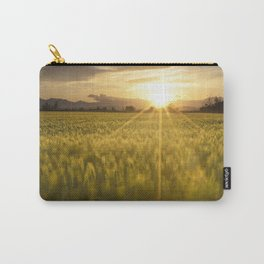 Sunset over a wheat field Carry-All Pouch